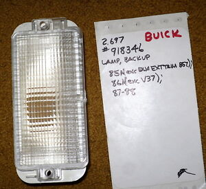 1985-88 Buick Somerset Regal Back Up Lamp NOS 918346