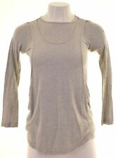 DIESEL Womens Top Long Sleeve Size 10 Small Grey Modal  FT08
