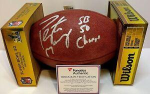 PEYTON MANNING Signed Autograph Superbowl 50 Broncos Football Fanatics Authentic