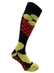 Expansive Ski Winter Socks Lime Black Honeycomb Technical Antibacterial 3 sizes