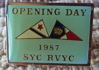 Opening Day 1987 SYC RVYC pin Seattle Yacht Club Royal Vancouver