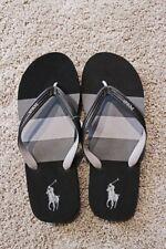 Men's Ralph Lauren POLO Whitlebury Flip Flop~ Gray And Black~ NWT~