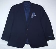 Stafford Blue Suit Jacket 54R Blue Navy Travel Separate 2 Button Nwt Wool Blend