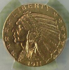 $5 1911 Indian Gold Half Eagle Pcgs Au Detail * AvenueCoin