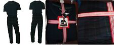 Nautica Men's Pajama Set Navy T-Shirt and Flannel Pant Size Large
