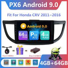 64G PX6 Android 9.0 Car Radio for Honda CR-V GPS Stereo Navigation Head Unit