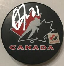 OWEN TIPPETT SIGNED TEAM CANADA HOCKEY PUCK PANTHERS W/CASE COA