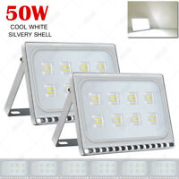 8X 50W LED Flood Light Cool White Outdoor Garden Lamp Lighting  Floodlight 110V