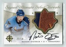 08-09 UD Ultimate Debut Threads  Nathan Oystrick  /10  Auto  Patch  Rookie