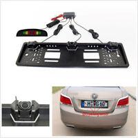 European Standard License Plate Car SUV Parking Radar Sensors+LCD Monitor System