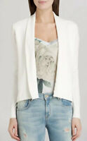 TED BAKER White Faiyly Open Front Cardigan Sweater Sz 5 US 12/14