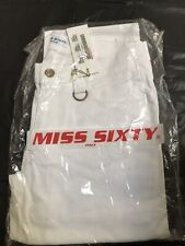 Miss Sixty Vintage Boot Cut White Jeans Sz 29 New With Tag