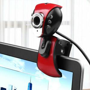 Webcam con microfono clip usb 2.0 videocamera led telecamera pc rotante pinza