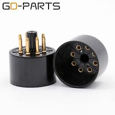 GD-PARTS Gilded 8pin Bakelite Tube Socket EL34 6L6 6N8P Valve Electron Tube Base