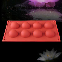 8 Half Ball Sphere Silicone Mold Cake Chocolate Candy Muffin Soap Baking Mould