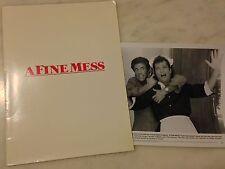 A FINE MESS (1986) Press Kit Folder, Photos; Ted Danson, Howie Mandel