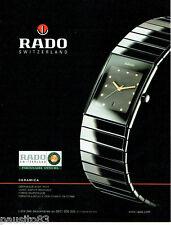 PUBLICITE ADVERTISING 096  2002  montre Rado ceramica  Roland Garros *