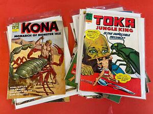 TOKA / KONA / NAZA  (1960's) 16  Assorted DELL  VINTAGE JUNGLE COMIC BOOKS