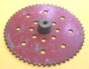Meccano Sprocket Wheel, 3 inch, red, part 95b