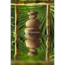 Magnete Da Frigorifero decocrazione Sassi e Bambù 60x90cm ref 6230 6230