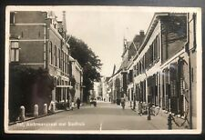 1930s Tiel Netherlands RPPC Postcard Cover To The Hague Main Street View