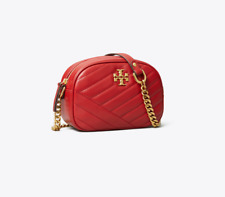 Authentic TORY BURCH KIRA CHEVRON SMALL CAMERA BAG APPLE RED