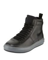 Salvatore Ferragamo Dakota Leather High Top Black Sneakers  US 8 UK 7 EU 42