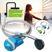 Portable Water Shower Head Pump Camping Hiking Bathing Outdoor USB Rechargeable