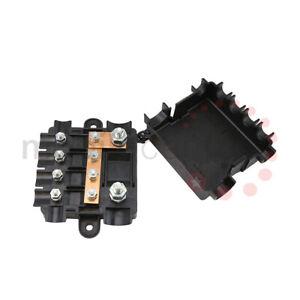Heavy Duty Power Distribution Fuse Box For Mega & Midi Fuses 12v & 24v five way