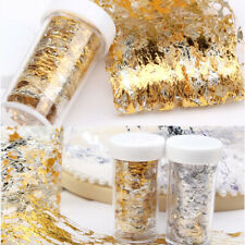 Nail Art Gold Silver Glitter Silk Foil-Paper-3D Sticker Flake -Decal Decoration