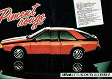 PUBLICITE ADVERTISING 0217  1981  la Renault Fuego GTX  2l  (2p) piment rouge