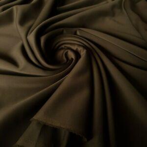 4 Metres Khaki Plain Scuba Fabric