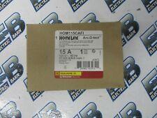 Square D HOM115CAFI, 15 Amp 1 Pole 120 VOLT COMBO ARC FAULT Circuit Breaker- NEW