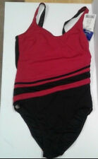 Christina Swimwear 14 one piece Bathing Suit Red Black