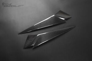 Real Carbon Fiber Eye Brow Lid Eyelids Headlight Covers for BMW X1 E84 2009-2014