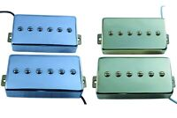 Humbucker sized P90s alnico 2 or 5, chrome or gold cover, set or single