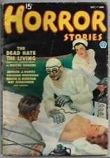 Vintage WEIRD MENACE Pulp Magazine~HORROR STORIES~Dec/Jan 1936 Ray Cummings+