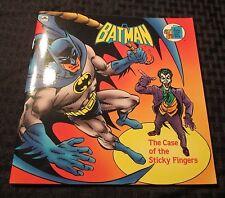 1990 BATMAN Case Of The Sticky Fingers GOLDEN BOOK 24 pgs VF+ vs. Joker