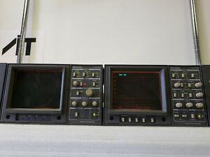 Tektronix 1731 Waveform and 1721 Vectorscope in rack mount frame