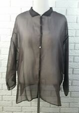 Eileen Fisher Sheer Shirt Jacket 1X Brown Silk