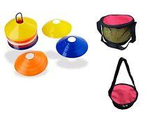Set 50 Field Marker Saucer Disc Cones Soccer Football Training Free Bag & Holder