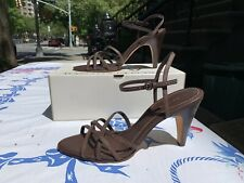 BANANA REPUBLIC BROWN LEATHER STRAPPY SANDALS HEELS SIZE 11 BRAND NEW WITH BOX A
