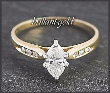 Diamant Ring Damen 585 Gold, 0,70 ct Diamantring, Gelbgold/Weißgold Goldring Neu