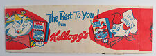 Kelloggs Advertising Paper Hat Frosted Flakes Rice Krispies Corn Flakes 1976