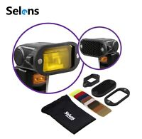 Selens General Magnetic 7Color Speedlite Filter Honeycomb Grid with Rubber Band