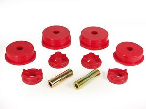 Prothane 13-1901 95-99 Eclipse Eagle Talon 4 Cyl Motor Mount Inserts FWD AWD Red