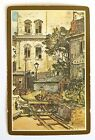 """VINTAGE SWAP PLAYING CARD. ART BY LIONEL BARRYMORE """"SEAWORTHY"""" BOAT REPAIR YARD"""