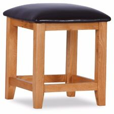 Otago Brown Oak Stool For Dressing Table - Fully Assembled - Free P&P