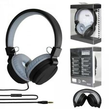 Comfort Stereo Headphones with Mic - Noise Canceling TV05 (Black) - Ni