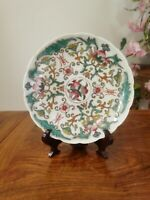 Chinese Antique Hand-Painting famille-rose porcelain plate